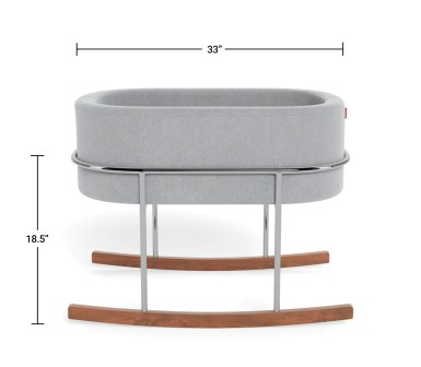 Modern Nursery Rockwell Bassinet Dimensions Front View