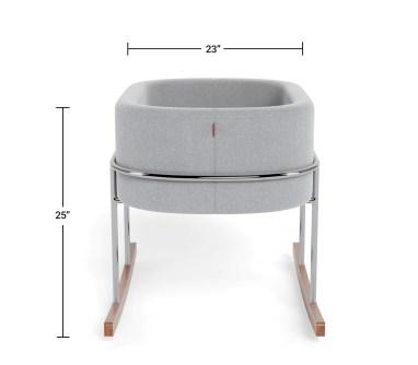 Modern Nursery Rockwell Bassinet Dimensions Side View