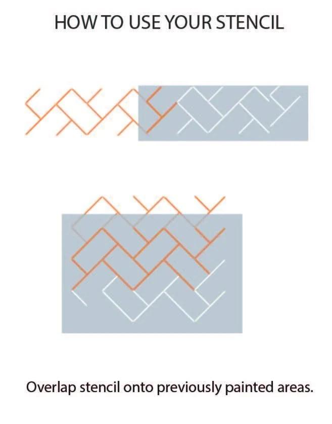 https dizzyduckdesigns com products metro herringbone tile stencil