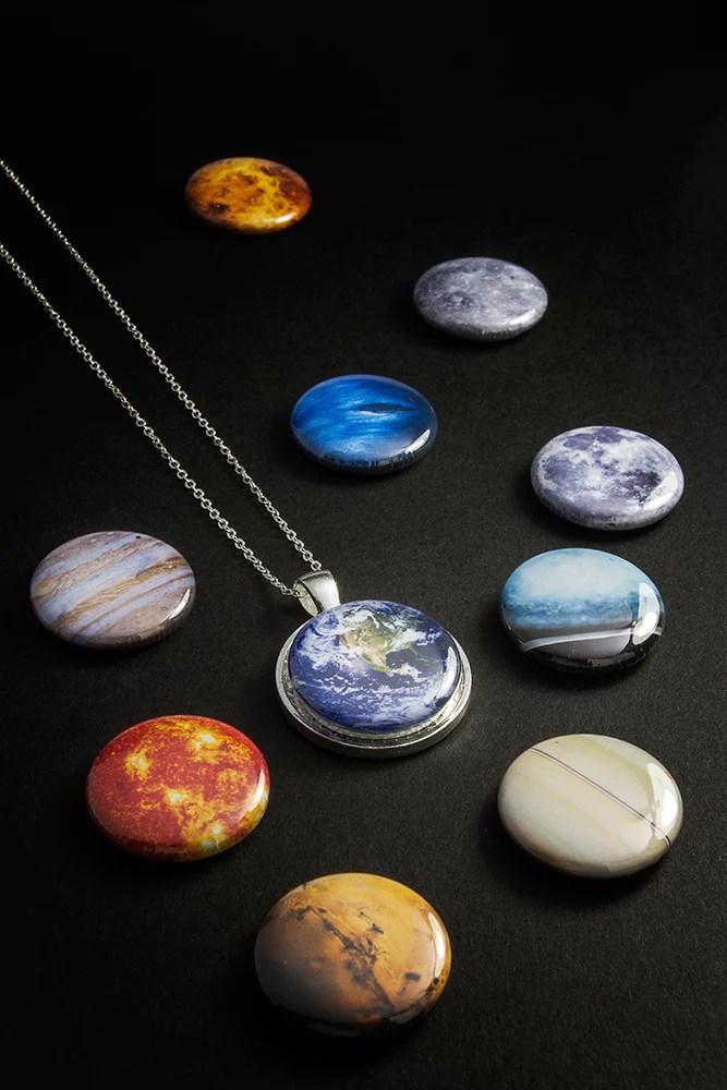 Interchangeable Solar System Necklace IFLScience Store