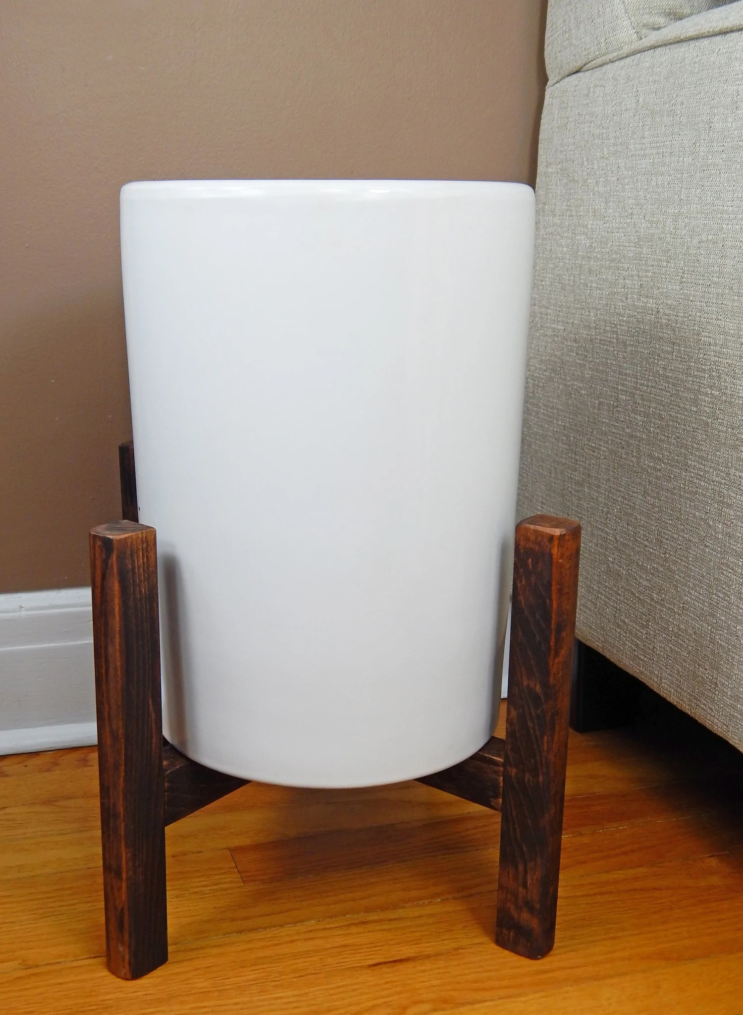 13 Large Plant Stand Mid Century Modern Plant Stand Wooden