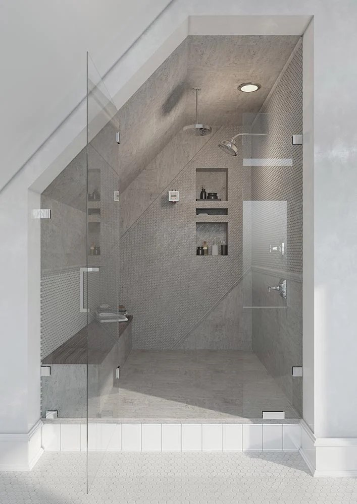 steam shower tile for a spa experience