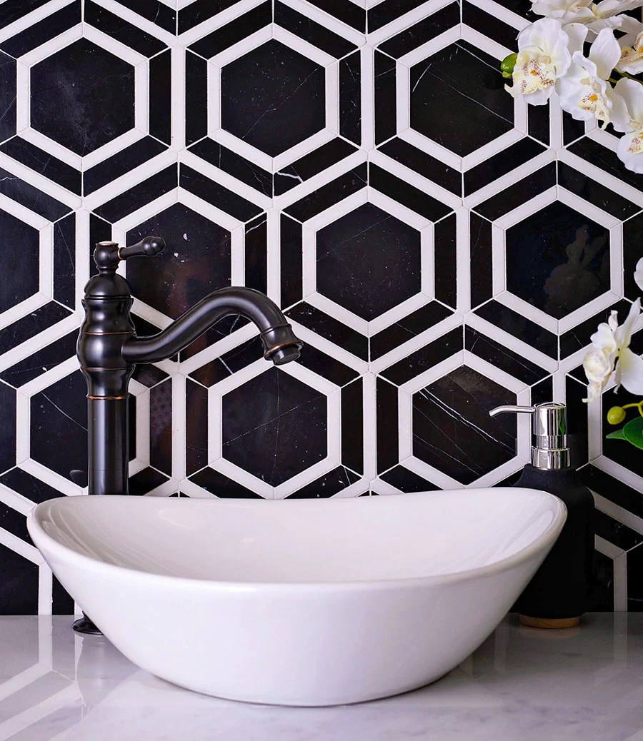 black and white tile designs that are