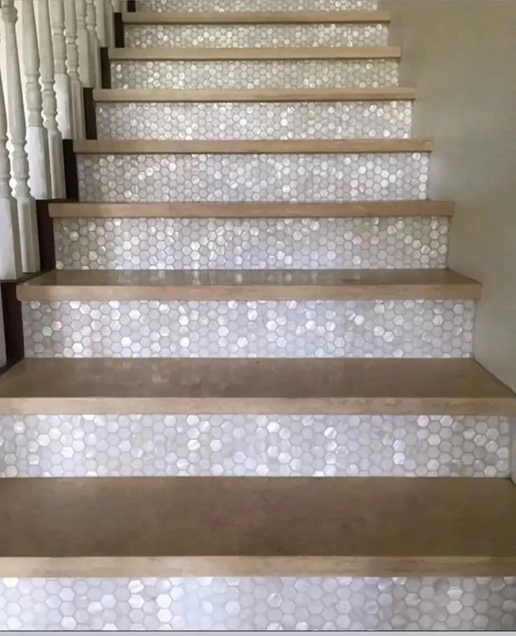 tiled staircase designs for inspiring
