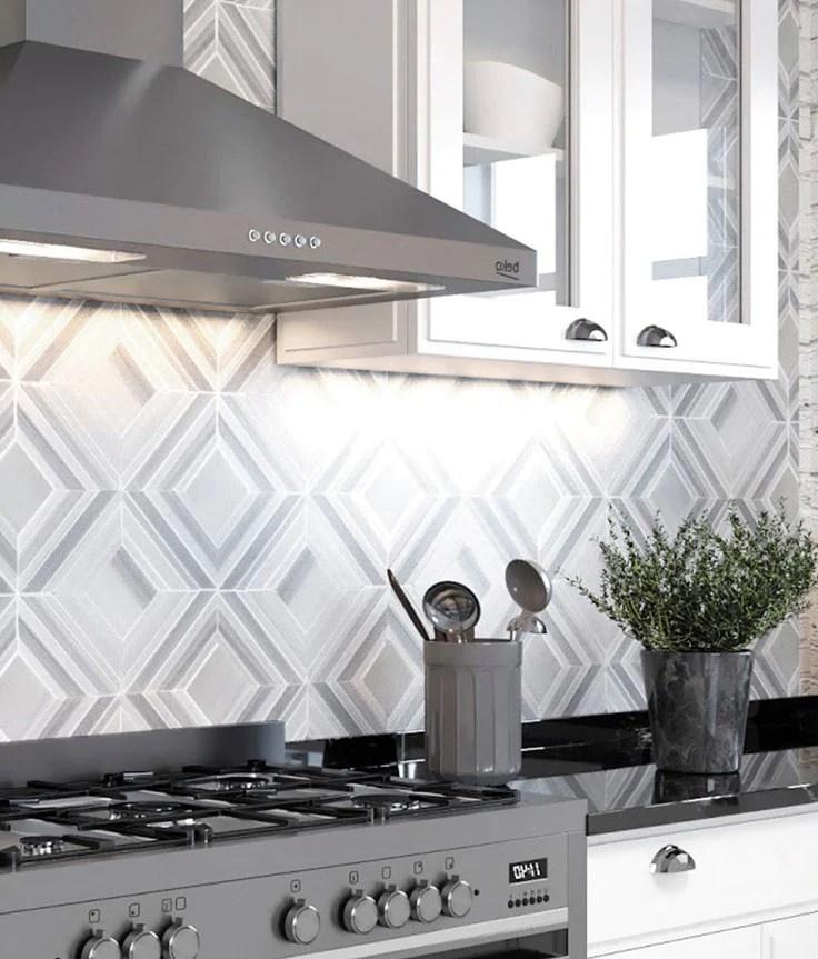 creative kitchen designs with geometric