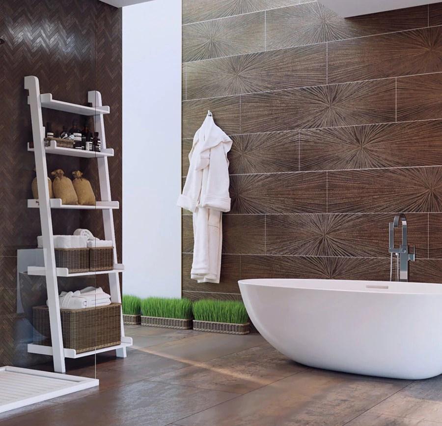copper bathroom tiles and decor