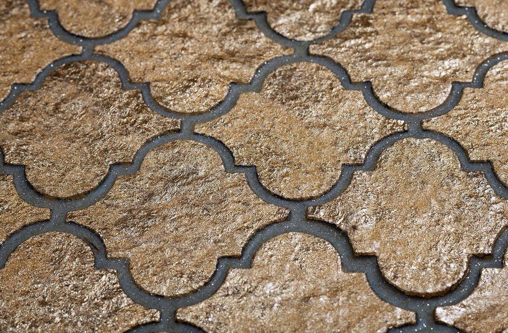 gold arabesque mosaic tile