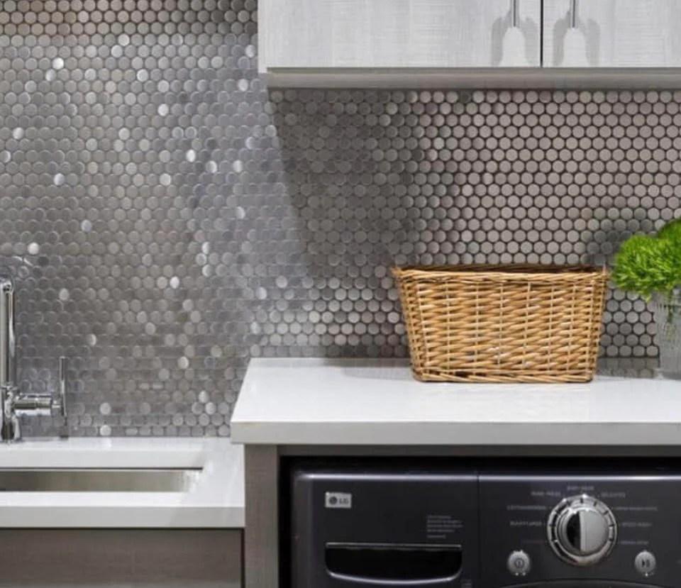 stainless steel penny metal mosaic tile