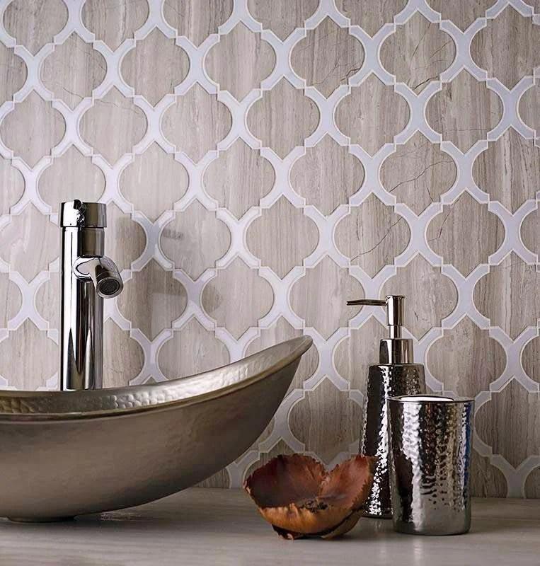 arabesque tile for backsplash shower