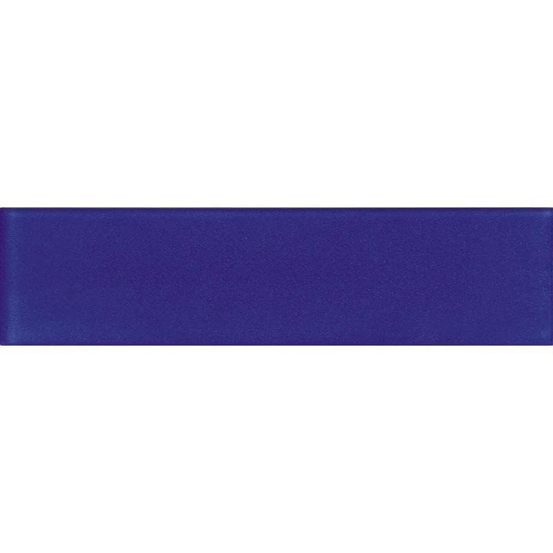 glacier cobalt blue 3x12 frosted glass tile