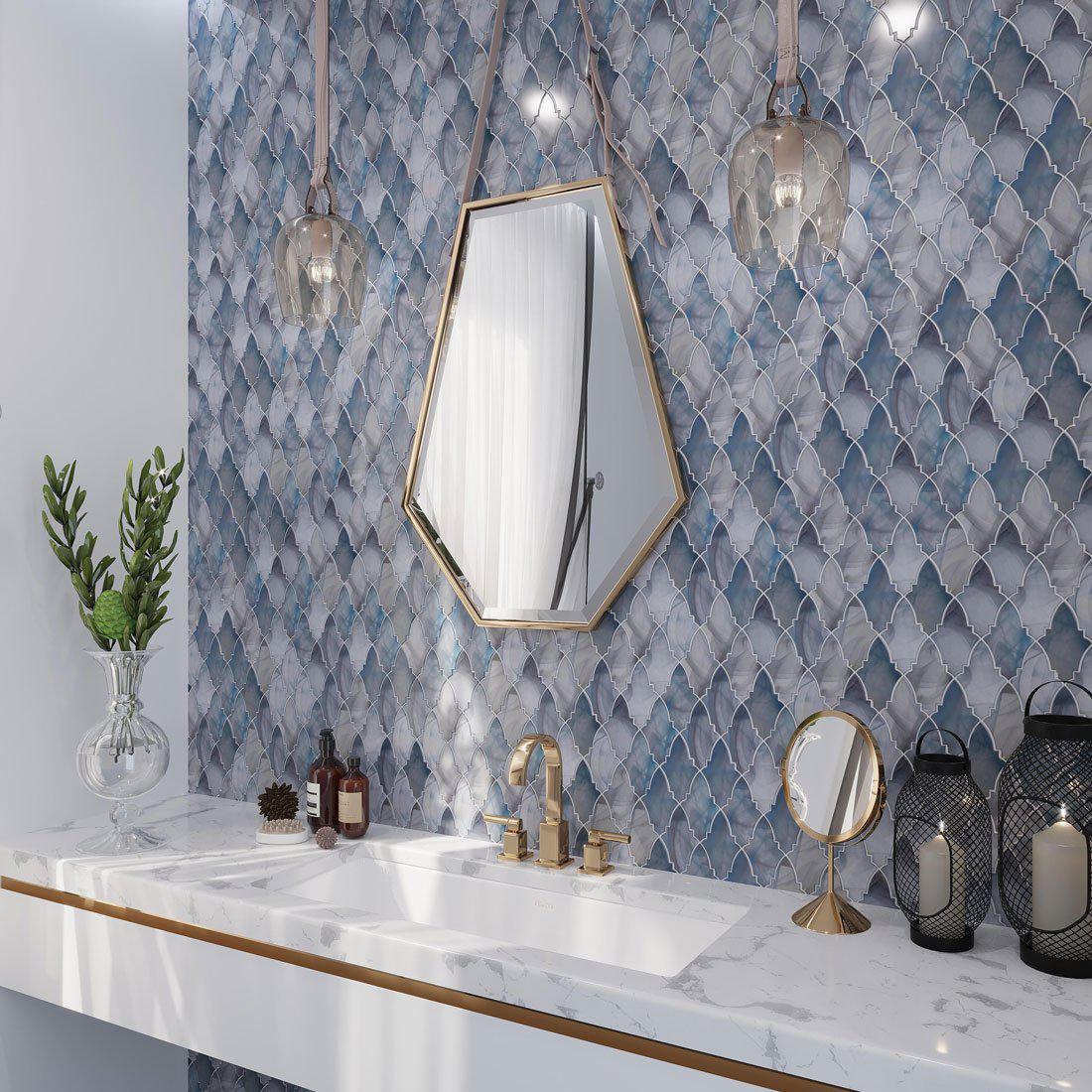 sea glass decorative tiles tile club