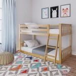 Kid S Twin Over Twin Size Low Bunk Bed Max And Lily