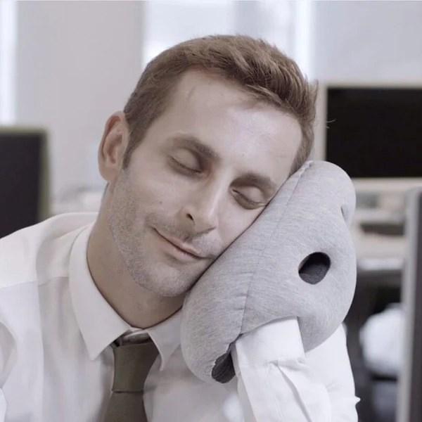 ostrich pillow mini desk travel pillow midnight grey
