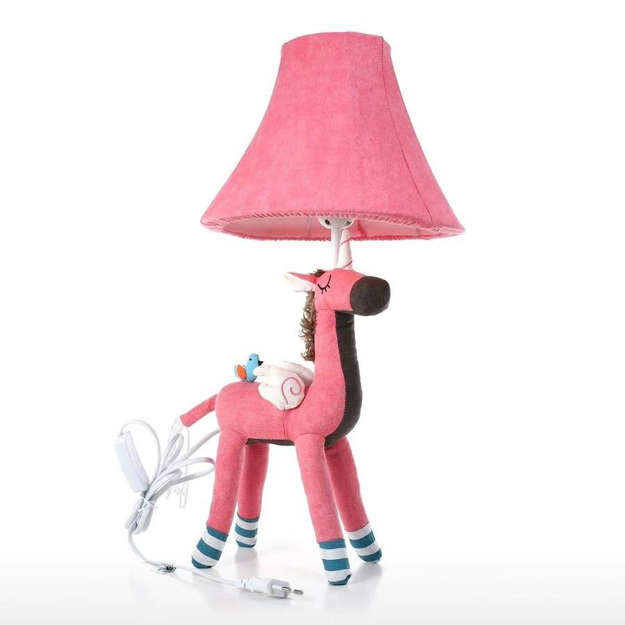 lampe de chevet et veilleuse licorne rose pour chambre bebe et enfant