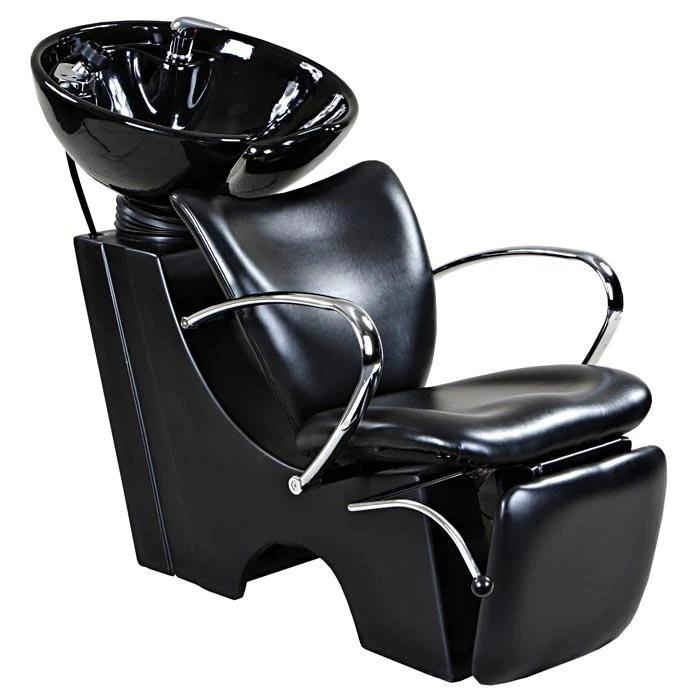 monroe black beauty salon backwash chair sink bowl