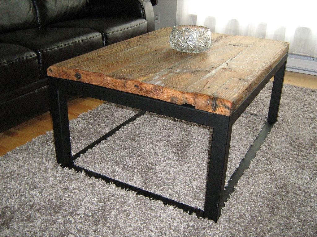 wood and metal living room furniture
