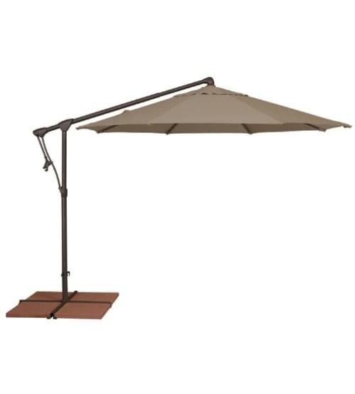 treasure garden 10 octagon ag19 cantilever umbrella sunbrella or outdura fabrics