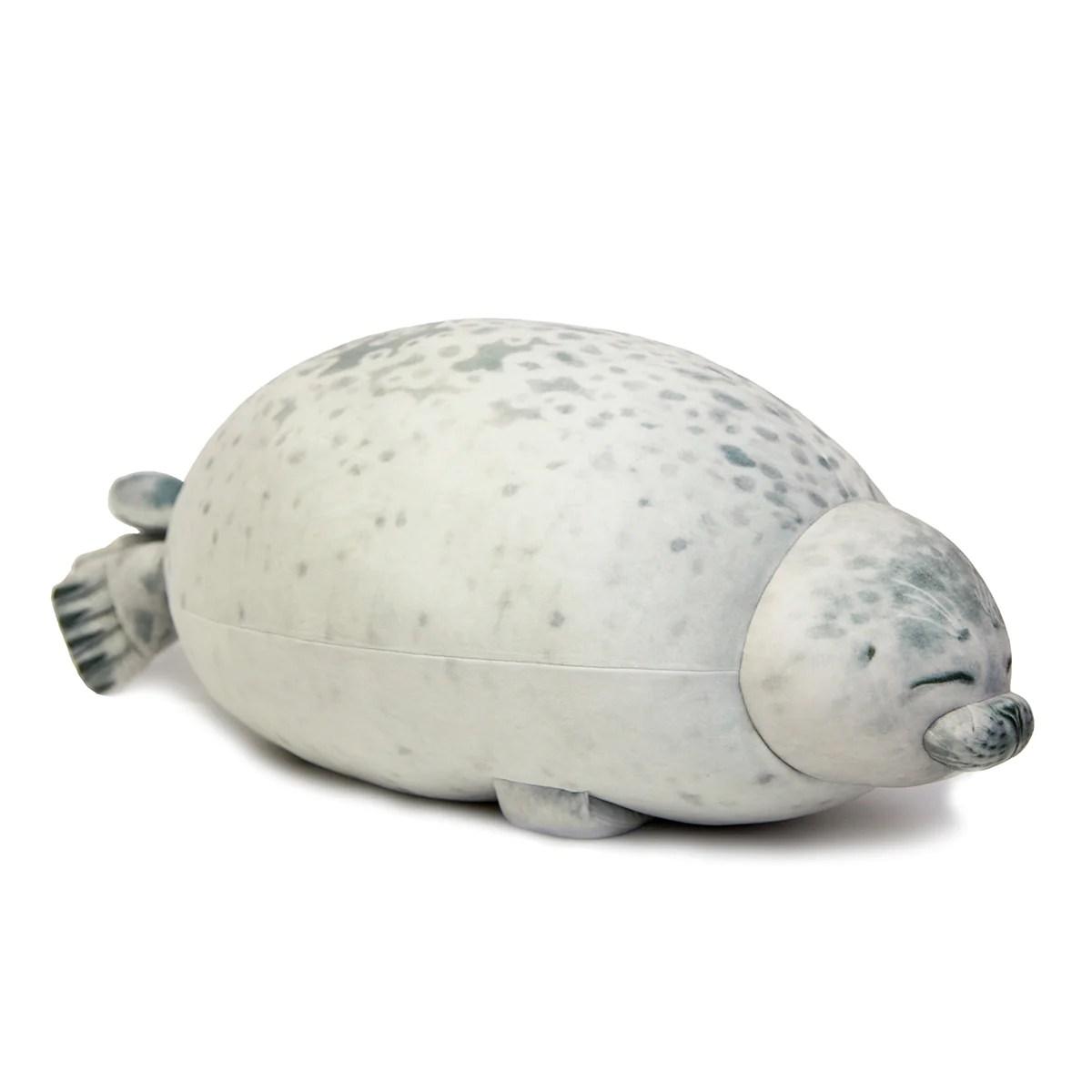 chubby angry seal pillow plush stuffed