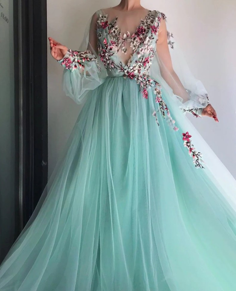 Turquoise Queen Gown | Teuta Matoshi