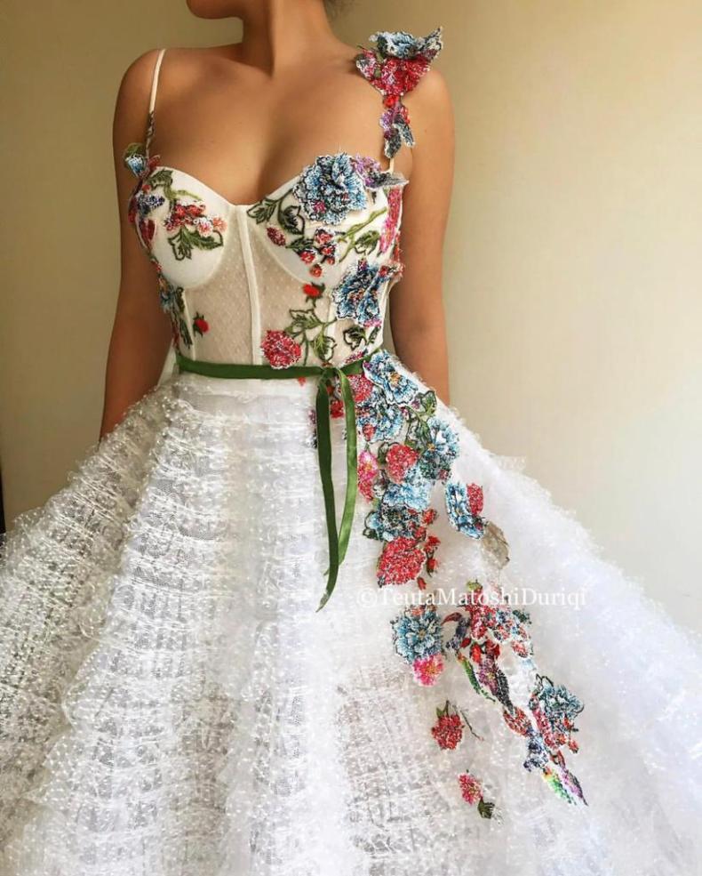 Femme Flowerette Gown | Teuta Matoshi