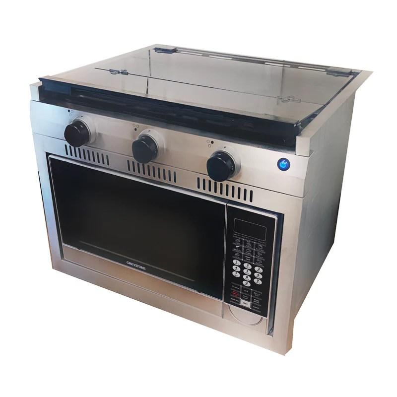 24 inch high output burner convection oven range
