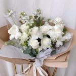 The Florte Fresh And White Bouquet The Florte