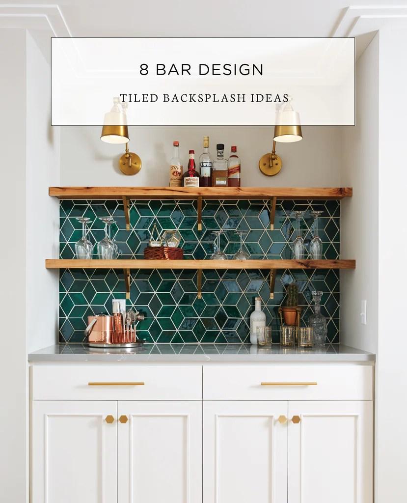 tiled backsplash ideas for bar designs