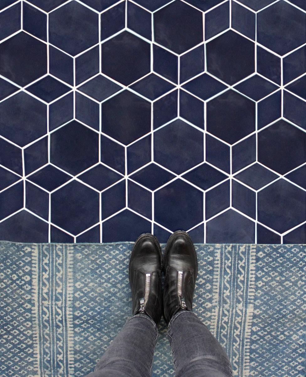 inspire hexagon floor tile