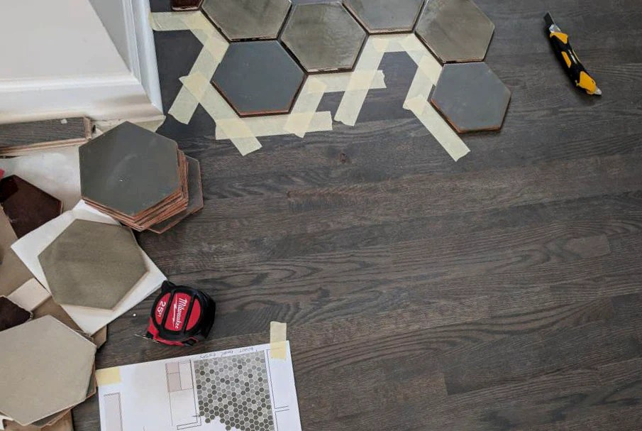 floor transition from tile to wood