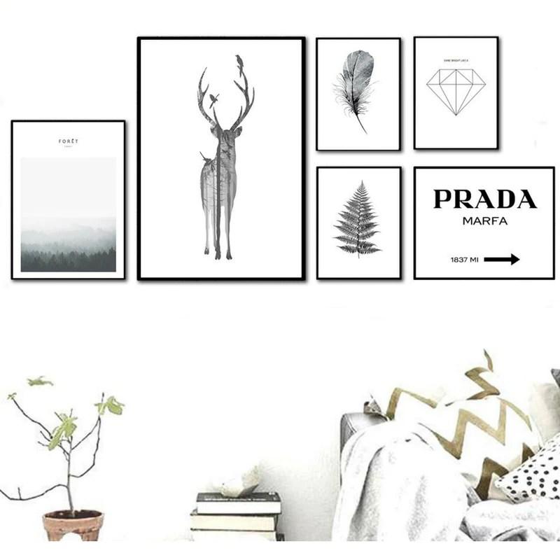 affiche scandinave noir et blanc