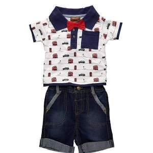 Set tricou polo si blugi scurti copii: tricou polo cu model mașinuțe și blugi scurți Little Gent, din bumbac de calitate superioară. Mărimi pentru 6-24 luni. Model unic. Compoziție: 100% bumbac.