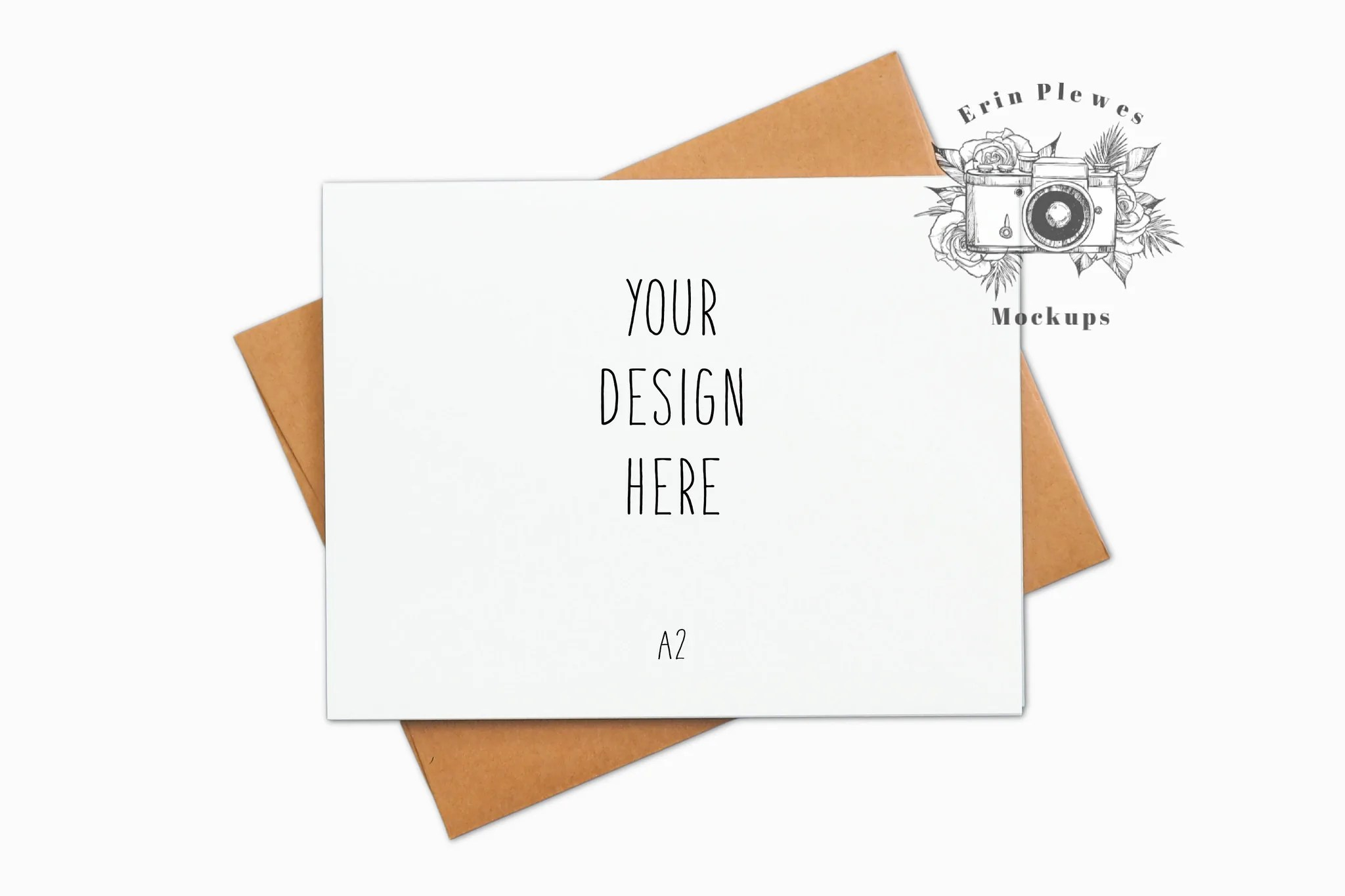 Your comfort and happiness is. Card Mockup With Kraft Envelope A2 Thank You Card Mock Up Minimal La