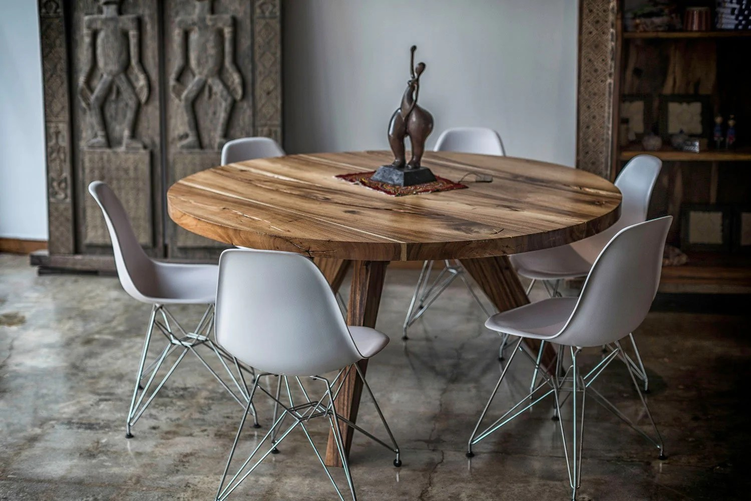 live edge round dining table round conference table wood base
