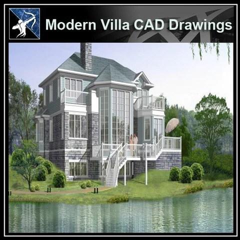 ★Modern Villa CAD Drawings