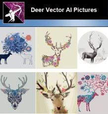 Deer AI Vector