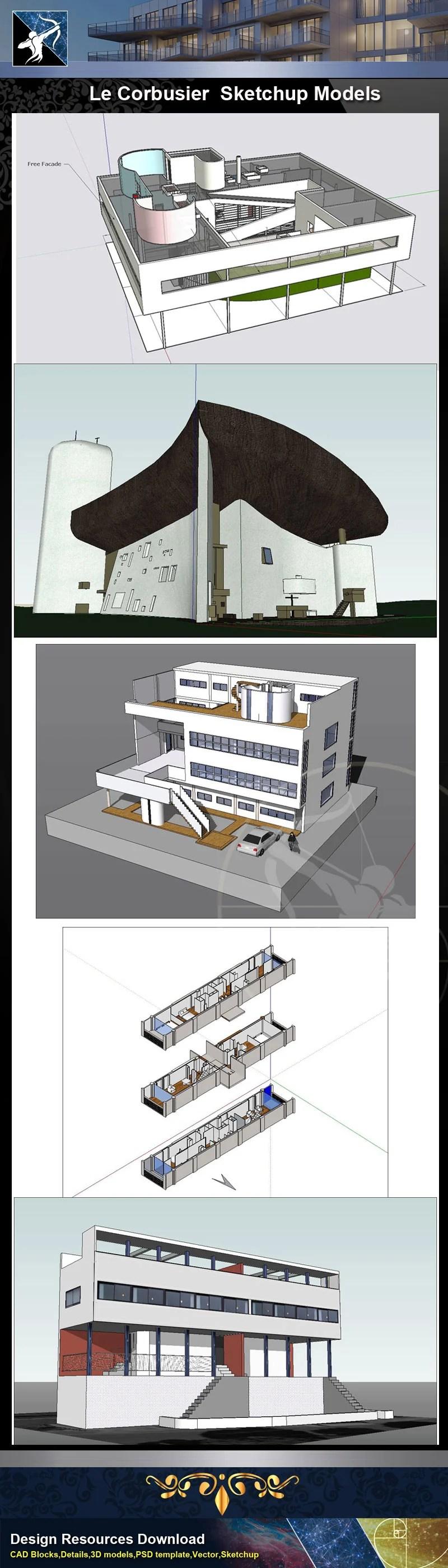 ★★Total 107 Pritzker Architecture Sketchup 3D Models★ (Best Recommanded!!)