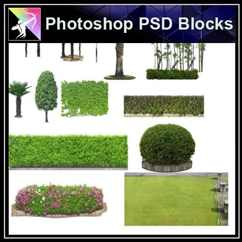 Photoshop PSD Landscape Blocks Trees Blocks V9