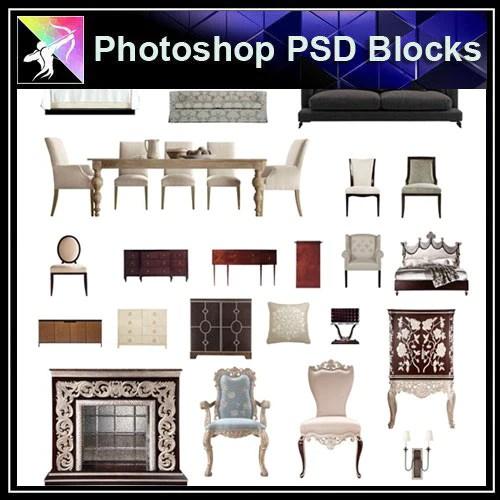 Photoshop PSD BlocksInterior Design PSD Blocks 2