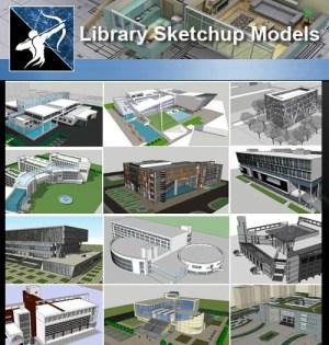 ★Sketchup 3D Models-15 Types of Library Sketchup Models