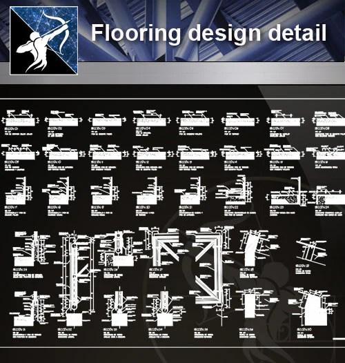Floor Details】Flooring design detail cad files - Free CAD Download