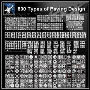 ★【Over 600+ Paving Design CAD Blocks】