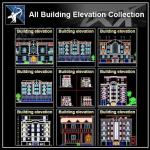 ★【All Building Elevation CAD Drawings Collection】