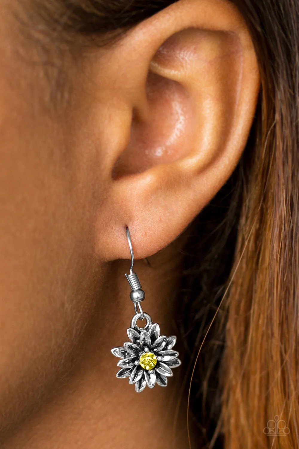 771a778e7 Paparazzi Double Flower Earrings | Gardening: Flower and Vegetables