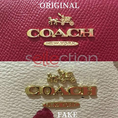 coach original and fake emblem