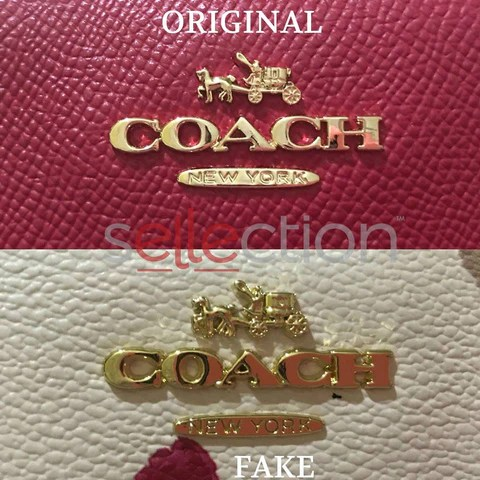 coach original and fake emblem