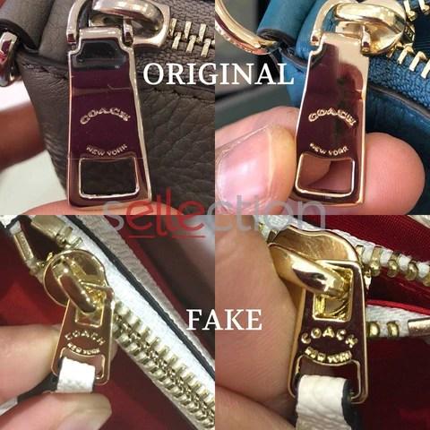 coach original and fake zipper