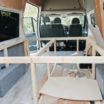 How To Build A Bed Frame And Cabinets In Your Camper Van Vanlifer