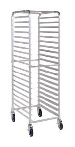 20 tier aluminium mobile pan rack no pans