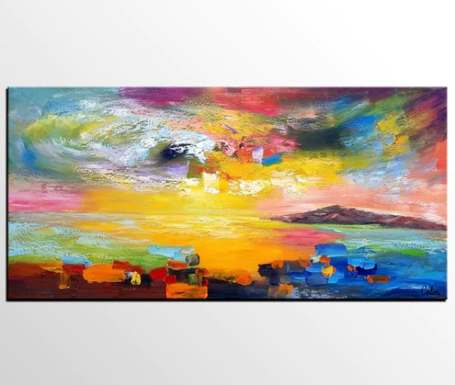 Wall Art Contemporary Art Abstract Landscape Art Canvas Wall Art Abstract Art