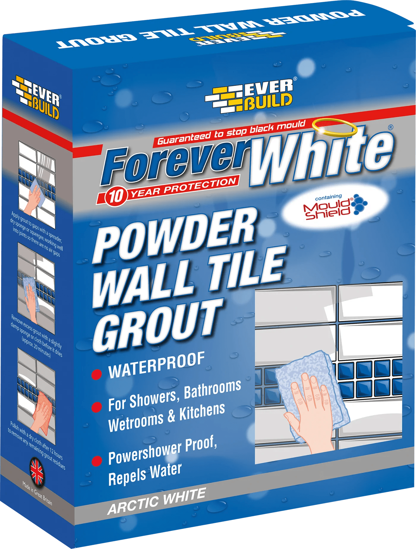 forever white powder wall tile grout arctic white 1 2kg